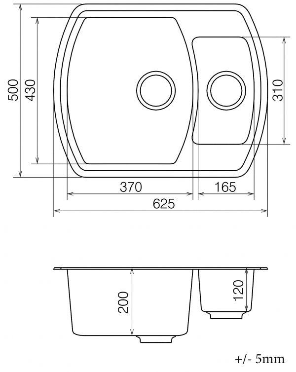 Кухонная мойка VANKOR Norton NMP 03.63 Terra + сифон VANKOR