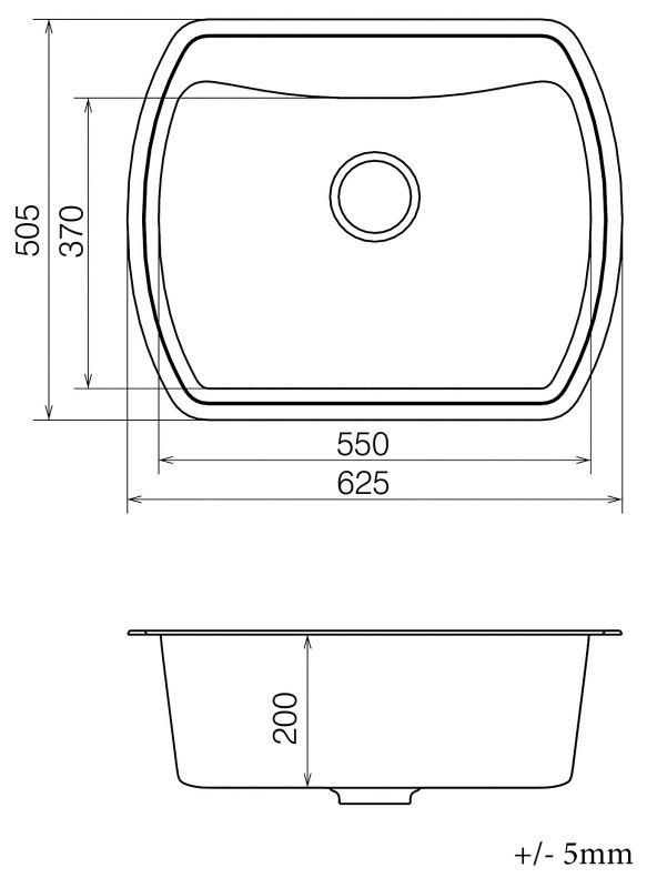 Кухонная мойка VANKOR Norton NMP 01.63 Beige + сифон VANKOR