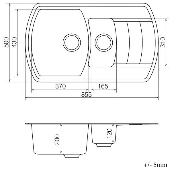 Кухонная мойка VANKOR Norton NMP 04.86 Terra + сифон VANKOR