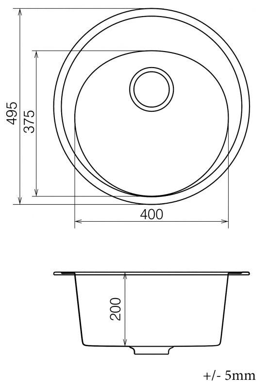 Кухонна мийка   Sity SMR 01.50 White stone + сифон