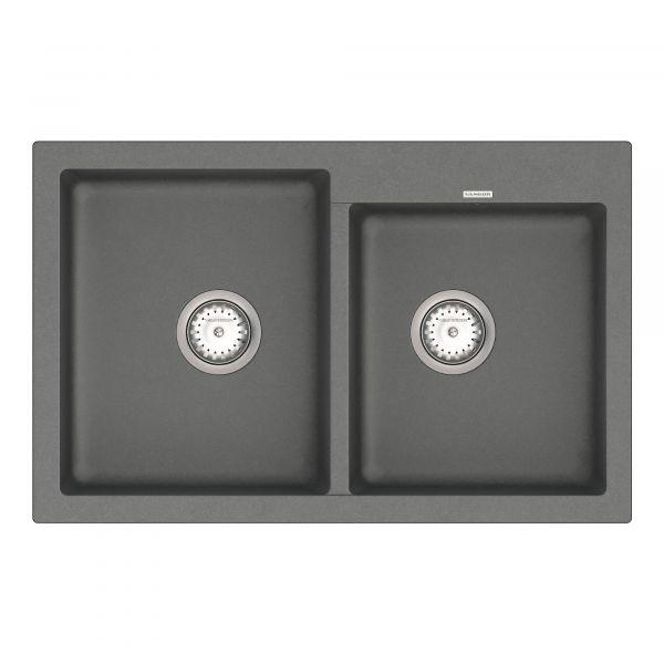 Кухонная мойка VANKOR Orman OMP 05.80 Gray + сифон VANKOR
