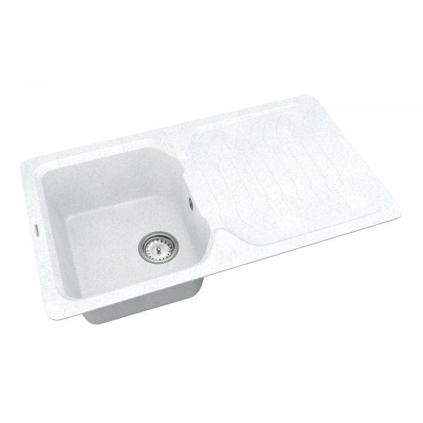 Кухонна мийка   Sigma SMP 02.85 White stone + сифон