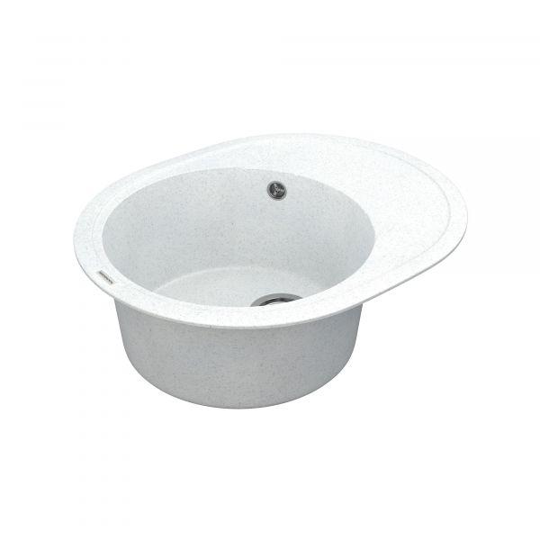 Кухонна мийка   Sity SMO 02.61 White stone + сифон